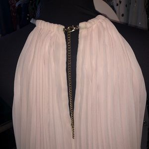 MSK Blush pale pink pleated gown
